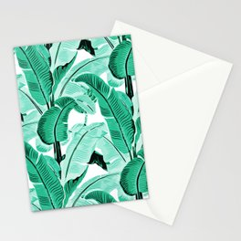 jungle leaf pattern mint Stationery Cards