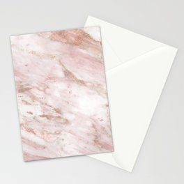 Pink marble - rose gold accents Stationery Cards