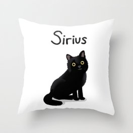 "Custom Artwork, ""Sirius"" Throw Pillow"