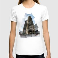 marina T-shirts featuring Marina Towers by Tyler Hewitt