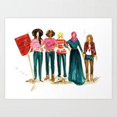 Nasty Women Art Print