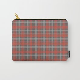 Pink And Grey Plaid Pattern Design Carry-All Pouch