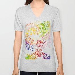 Rainbow Spurt 01 Unisex V-Neck