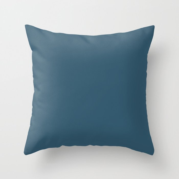 Sherwin Williams Trending Colors of 2019 Endless Sea Blue SW 9150 Solid Color Throw Pillow