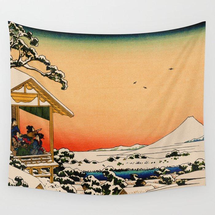 Snow at Koishikawa - Vintage Japanese Art Wall Tapestry by ...