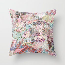 Lille map Throw Pillow