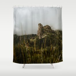 Foggy Mountaintop at Lost Mine Trail, Big Bend Shower Curtain