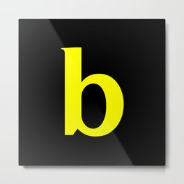 b (YELLOW & BLACK LETTERS) Metal Print