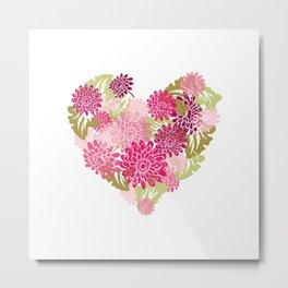 Gerbera Heart Metal Print