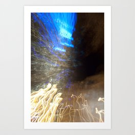 Charlotte, NC Light Painting Abstract Art Print