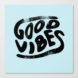 Good Vibes Typography Canvas Print