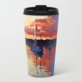 Multi-Colors Bouncing Off Storm Clouds and Water Travel Mug