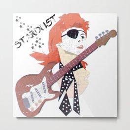 David Bowie's STARDUST Metal Print