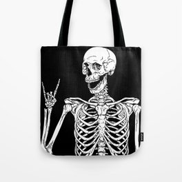 Rock and Roll Skeleton Tote Bag