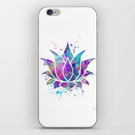 Lotus Flower Watercolor Print Wall Art Wedding Gift Zen decor iPhone Skin
