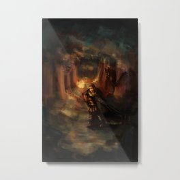 warrior in forest Metal Print