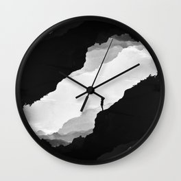 White Isolation Wall Clock
