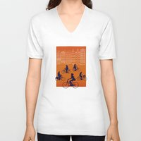 amsterdam V-neck T-shirts featuring Amsterdam by Ben Whittington