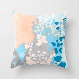 Freya - Painted minimal bright summer palette boho abstract decor minimalist Throw Pillow