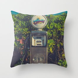 Gas in Paradise Throw Pillow