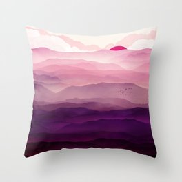 Ultra Violet Day Throw Pillow