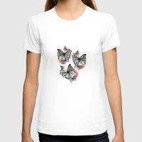 butterflies T-shirts featuring Butterflies by Wood + Ink