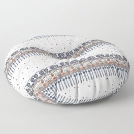 Retinal Circuitry - Color on White Floor Pillow