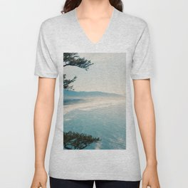 View of the Oregon Coast from Highway 101 - Film Photograph Unisex V-Neck