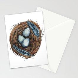 Blue Bird Nest Stationery Cards