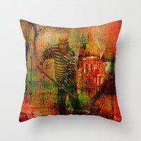 venice Throw Pillows featuring Venice by Joe Ganech