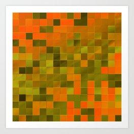 little colored squares -2- Art Print