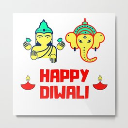happy diwali Metal Print