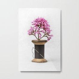 Wooden Vase Metal Print