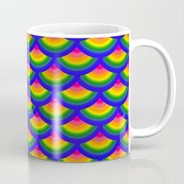 Rainbow Fish Scales Mermaid Pattern Coffee Mug