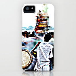 Drummer at Durga Puja Immersion iPhone Case