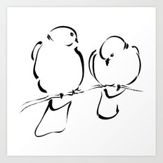Bird Couple Art Print