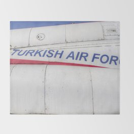 Turkish Air force Logo Throw Blanket