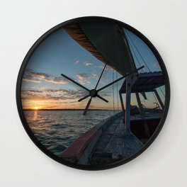 Sunset from a Dhow Wall Clock
