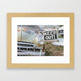 Keep Out Sign Framed Art Print