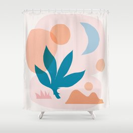 Abstraction_Nature_Companion_001 Shower Curtain