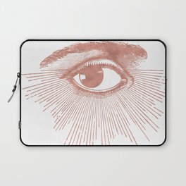 I see you. Rose Gold Pink Quartz on White Laptop Sleeve