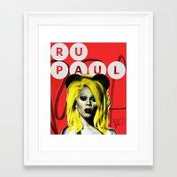 rupaul Framed Art Prints featuring Rupaul  by HeyBun
