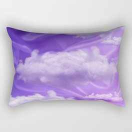 """Violet pastel sweet heaven and clouds"" Rectangular Pillow"