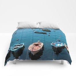 Docked Boats Comforters