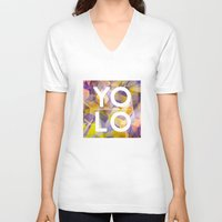 sayings V-neck T-shirts featuring Dreams of YOLO Vol.1 by HappyMelvin