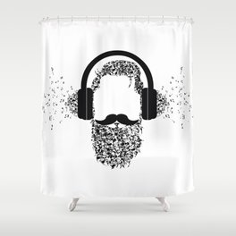 Beard the Music Shower Curtain