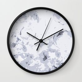 GRAYSCALE CRATERS Wall Clock