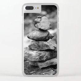 stones at the waterfall stream near the ruins in Flintsbach Clear iPhone Case