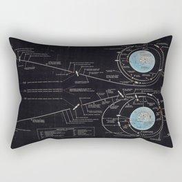 Vintage Diagram of The Apollo Mission (1969) Rectangular Pillow