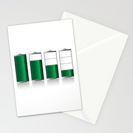 Battery Charge Indicator Stationery Cards